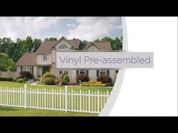 Freedom Pre Assembled Vinyl Fence Installation Overview Youtube
