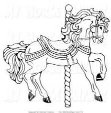 Carousel Horse Coloring Pages Yahoo Image Search Results