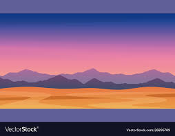twilight mountains free vector image