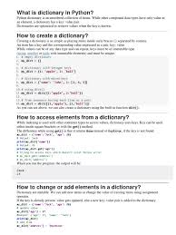 Dictionary in Python | Software
