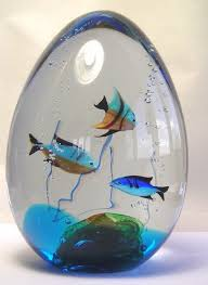 vintage murano art glass fish sculpture