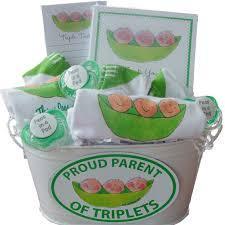 three peas in a pod triplet gift basket