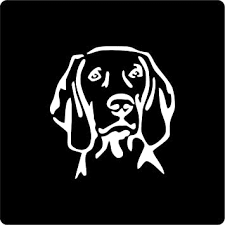 Amazon Com Weimaraner Dog Head Vinyl Decal Sticker For Window Car Truck Boat Laptop Iphone Wall Motorcycle Gaming Console Size 3 77 X 4 White Automotive