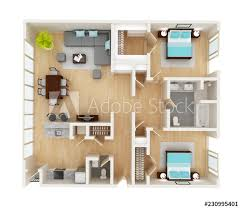 concept living room two bedroom layout