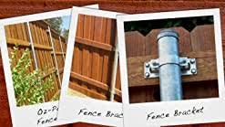 Ozco 50140 Wap Oz 2 3 8 Inch Steel To Wood 90 Degree Fence Bracket 1 Per Pack Oz Post Wap Oz 2