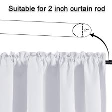 Keqiaosuocai Sea Aqua Bedroom Valance For 18 Inch Short Window Valance For Kids Room Kitchen Bathroom Rod Pocket Curtain Valance 52wx18l Valences