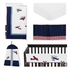 red white and blue airplane baby boy