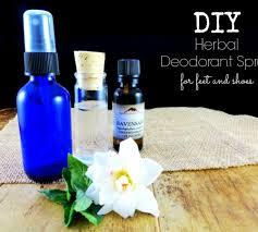a diy herbal deodorant spray for