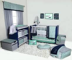 noah tribal mint navy boys crib bedding