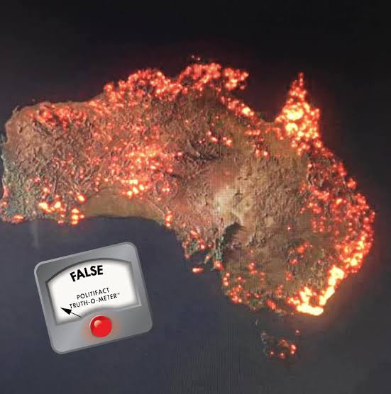Image result for anthony hearsley picture of burning australia from NASA""