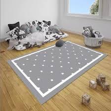 Else Gray White Borders Stars Nordec Unisex 3d Print Non Slip Microfiber Children Baby Kids Room Decorative Area Rug Mat Carpet Aliexpress