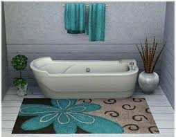 turquoise bath rug rugs color bathroom
