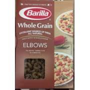 barilla whole grain elbows pasta