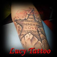 Gwiazda 3d Z Napisem Lucy Tattoo