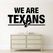 Amazon Com Football Team Logo Vinyl Decal Wall Sticker Houston Texans Nfl Emblem Sport Poster Home Interior Removable Decor Kitchen Dining