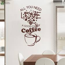yoyoyu wall decal creative cafe shop wall stickers quotes all you