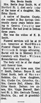 Obituary for Bertie Seay Smith (Aged 64) - Newspapers.com
