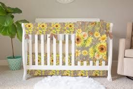 baby girl crib bedding sunflower