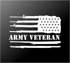 Army Veteran Reversed Us Flag Vinyl Decal Car Truck Window Sticker Kandy Vinyl Shop