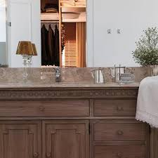 stained distressed bathroom vanity