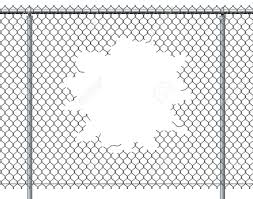 Chain Link Fence Hole With Blank Copy Space Isolated On A White Stock Photo Picture And Royalty Free Image Image 42846549