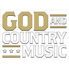 George Strait God Country Music Sticker Umg Nashville