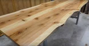 How To Make A Live Edge Wooden Dining Table Diy Hometalk