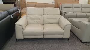 2 seater leather elec recliner sofa