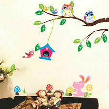 Removable Tree Owl Wall Decals Kids Bedroom Baby Nursery Stickers Art Room Decor For Sale Online Ebay