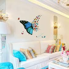 Vova Removable Beautiful Butterfly Wall Stickers Wall Decals For Entrance Living Room Decoration Home Decor