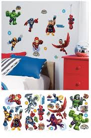 Marvel Super Hero Squad Wall Decals Superhero Room Decor Superhero Wall Stickers Superhero Room