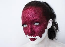 dripping glittery blood face makeup