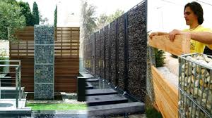 Stone Fence Ideas Stone Net Boundary Wall Diy Gabion Walls Stone Walls Rock Fence Design Youtube