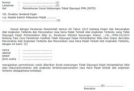 Ketentuan Umum Dan Tata Cara Permohonan Surat Keterangan Tidak Dipungut Sktd