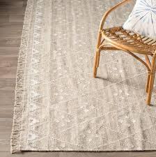 flatweave wool natural ivory area rug