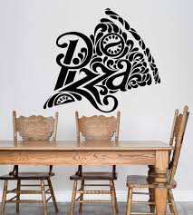 Vinyl Wall Decal Pizza Pizzeria Logo Signboard Fast Food Restaurant St Wallstickers4you
