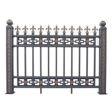 China Ce Certification Oem Security Steel Iron Aluminum Metal Top Panel Post Fence For Garden Factory Yard Farm Pool Swimming Ranch Villa China Fence Post Galvanized Steel Fencing