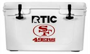 San Francisco 49ers Decal Sticker For Yeti Rtic Cooler Truck 6 H Ebay