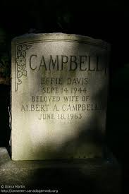 ON: Stoney Creek Cemetery (Effie (Davis) CAMPBELL), CanadaGenWeb's ...