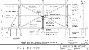 Chain Link Fence Drawings Fence Choices