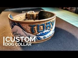 making a custom leather dog collar