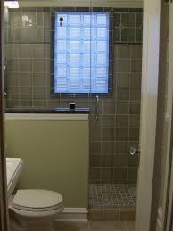 another half wall shower design