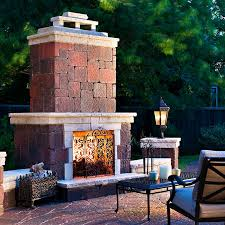 outdoor fireplaces firepits stone