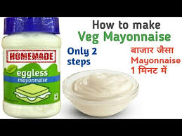 easy 1 minute 2 steps veg mayonnaise