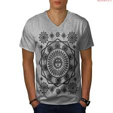 pagan sun symbolism men greyv neck t