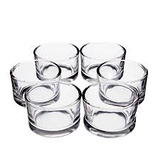 glass tealight holder tamio clear