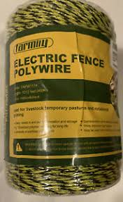 Farmily Portable Electric Fence Polywire Uv Stabilized 1312 Ft 400 M 6 Conductor Ebay
