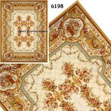 carpet gold aubusson roses 6198
