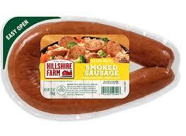 smoked sausage rope sausage hillshire
