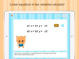 linear equation in 2 variables im app